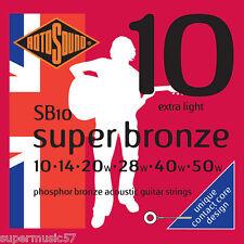 Rotosound SB10 Phosphor Bronze Contact Core Acoustic Guitar Strings Extra Light