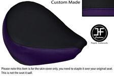 PURPLE & BLACK VINYL CUSTOM FOR YAMAHA XVS 650 CLASSIC V STAR FRONT SEAT COVER