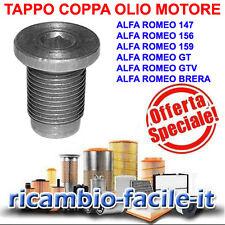 TAPPO COPPA OLIO SERBATOIO ALFA ROMEO 147 156 159 GT GTV BRERA 46476967 46404923
