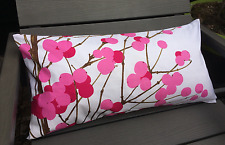 "Handmade 12x24"" pillow cushion case cover Marimekko Lumimarja, Finland  pink"