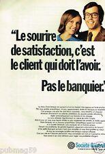 Publicité advertising 1973 Banque Société Génerale