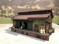 Diorama Güterschuppen Lagerhalle patiniert gealtert Spur H0 TOP Model