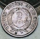 1868 Two Cent Piece 2C Higher Grade Civil War Good Date US Copper Coin CC7970