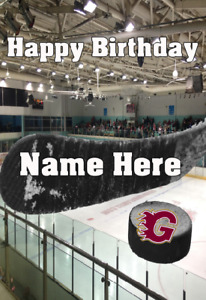 pnc235 Guildford Flames Happy Birthday Greeting Card Personalised Any Event