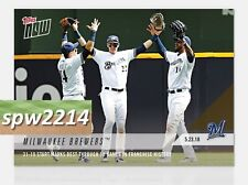 2018 Topps Now Milwaukee Brewers #244 Best Start in Franchise History Through 50