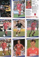 ef1 Merlin Premier League inglesa 1993-1994 variantes de tarjetas de Fútbol