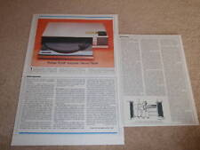 Pioneer PL88F Drawer Turntable Review,1983, 3 pages