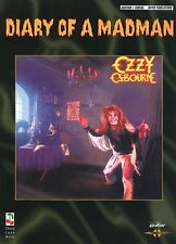 OZZY - RANDY RHOADS - DIARY OF A MADMAN GUITAR TAB BOOK