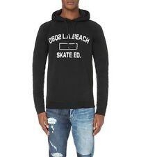 NEW DSquared2 DSQ2 LA Beach Skate Education Jersey Hoodie - Black - Small $545