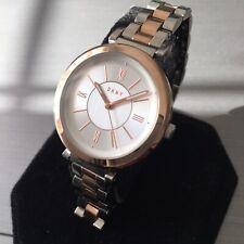 Ladies DKNY Designer Watch NY2585 ELLINGTON Steel Rose Gold Silver Dial Genuine