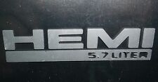 Hemi 5.7L Chrysler Mirror Window Decal Sticker Frosted Etched Glass x 2  22-31