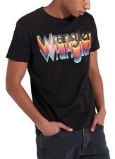 Wrangler New Retro W Brand Logo T-shirt Crew Neck Print Cotton Tee Top Black