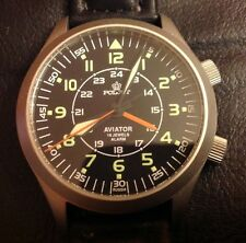 Rare poljot mécanique russe 2612/1223371-40 Pilote aviator watch alarm russian