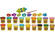 Play-Doh Super COLOUR KIT 18 IMPASTO VASI 16 UTENSILI TAGLIO GRANDE GIOCATTOLO CREATIVO NUOVO