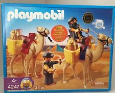 Playmobil 4247 Egyptian Tomb Raiders & Camels Gold Treasure Free Shipping