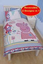 PEPPA PIG TWEET PIUMINO SINGOLO Quilt cover set di biancheria da letto per bambini Camera Da Letto Bambine Letto