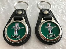 1968 FORD MUSTANG KEYCHAIN SET GREEN 2 PACK