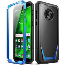 Motorola Moto G6 Case,Poetic Hybrid Armor Shockproof Bumper Cover Blue