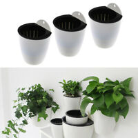 3 Pack Plastic Self-watering Wall Hanging Vase Flowers and Plants Holder