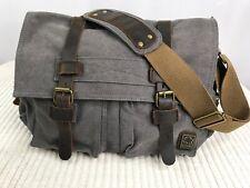 S. C. COTTON Men's Canvas and Leather Messenger Bag
