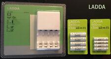 IKEA LADDA Ladegerät mit 4 Ladestationen für AA / AAA-Akkus Batterien NEU & OVP