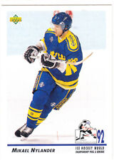 1992-93 Upper Deck #378 Mikael NYLANDER  RC - Team Sweden WC