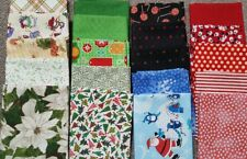 Lot of 20 fat quarters, 100% Cotton Quilting Fabric, high quality, Christmas#C20