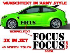 Texto que desee Army style deseo texto Pegatina Sticker 60 cm camo Military