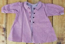 """American Girl KIRSTEN Red Housecoat Robe Plaid Checkered fits 18"""" Doll AG Tagged"""