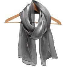 Scarf Silver chiffon Dark grey Metallic shawl-shoulder arm wrap wedding cruise