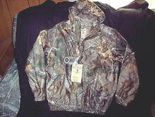 Boys XL Realtree Camo Jacket Rain Coat Real Tree Camo Rain Jacket Hunting Jacket