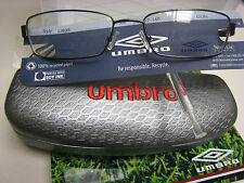 UMBRO  EYEGLASSES FRAME U805  GUNMETAL 56 -17-140 DEMO  WITH BLK CASE AUTHENTIC
