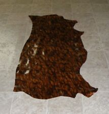 YYE6617-2) Side of Glossy Heavy Finish Printed Cow Leather Hides Skin