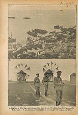 Beach Gaba-Tepe Battle of Gallipoli Soldiers New Zealand WWI 1915 ILLUSTRATION