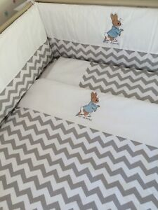 Beautiful peter rabbit cot bed size duvet cover and pillowcase set free p&p