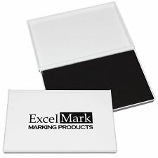 """ExcelMark Extra Large Black Ink Pad for Rubber Stamps 