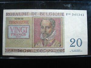 BELGIUM 20 FRANCS 1956 BELGIQUE NICE 1242# BANK CURRENCY BANKNOTE MONEY