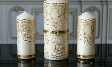 Gold Lace Unity Candle Set for Wedding