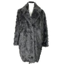 Vera Wang Faux Fur Rocha Coat Womens Size XL Gray