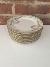 ANTIQUE HAVILAND LIMOGES CHINA 8  BREAD DISHES GDA FRANCE CH FIELDS RARE PATTERN