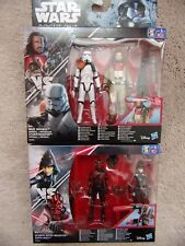 "Star Wars 3.75"" Action Figures BAZE v STORMTROOPER + DARTH MAUL v SEVENTH SISTER"