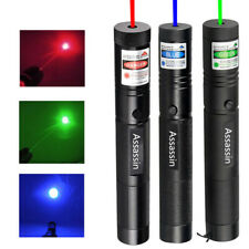 3x Super Bright 700miles Red+Green+Blue Purple Laser Pointer Pen Single Beam Usa