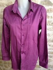 CELIO CLUB chemise homme manche longue coton violet T 42