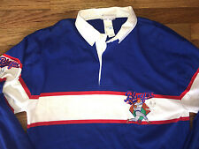 Deadstock ADIDAS Vtg 80s 90s BASEBALL Blue Fox RUGBY Jersey Polo t shirt cubs L