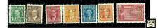 Canada perf 4 hole off.stamps1937-38 issue 0231-0236,0241-0245  11 issues all VF