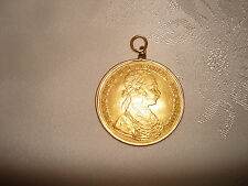 PENDANT 1915 FRANC IOS IDG AVSTRIAE IMPERATOR LOD REX HVNGAR BOHEM GOLD COIN