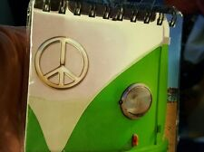 NEW SMALL CAMPERVAN NOTE BOOK GREEN