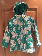 6Y Ragazze Verde Pioggia Mac Cappotto Primavera Estate Giacca Cappuccio Windbreaker Fiore 18m
