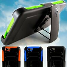 Holster Case Belt Clip Combo Tough Phone Protective Cover for BLU Studio Energy
