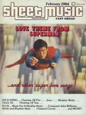 Sheet Music Magazine Christopher Reeve As Superman February 1984 011018nonr